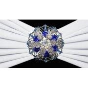 Wedding Linens Inc. (10 pcs)Rhinestone Chair Sash/Chair Band Buckles Brooches - Snowflake