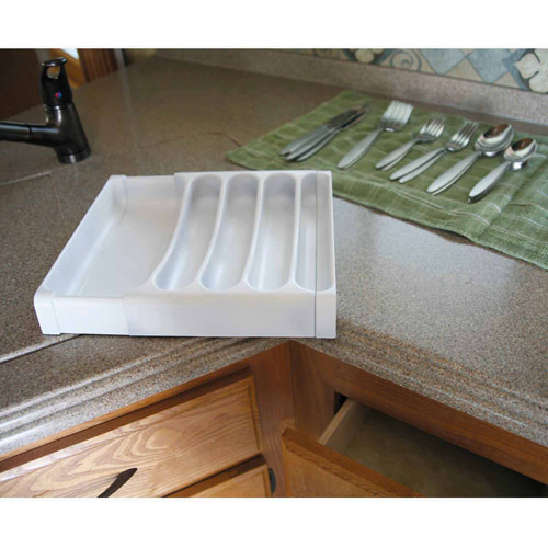 Camco 43503 Adjustable Cutlery Tray (White)