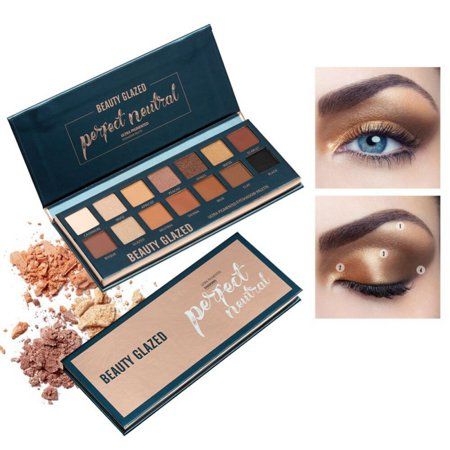 Beauty Glazed 14 Colors Perfect Neutral Shimmer and Matte Super Golden Nude Pigmented Eyeshadow