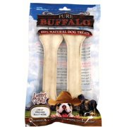 "Pure Buffalo 8"" Pressed Bully Bone Dog Treat 2/Pk"