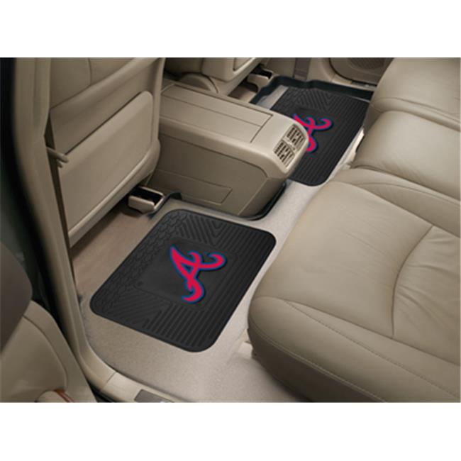 Fanmats 12326 MLB - Atlanta Braves  Backseat Utility Mats 2 Pack
