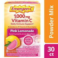 Emergen-C Original Formula (30 Ct, Pink Lemonade) Vitamin C Powder
