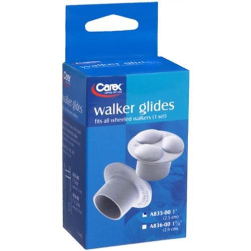 Carex Walker Glides 1 Inch A835-00 2 Each (Pack of 2)