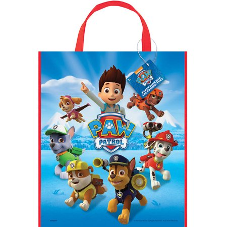 PAW Patrol Large Plastic Goodie Bags, 13 x 11in, 12ct