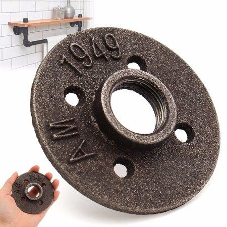"3/4"" Black Malleable Iron Floor Flange Fitting Pipe NPT Antique Wall flangefittingsplumbing Flange Seat"