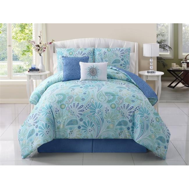 Luxury Home Harmony Comforter Set, Full - Queen - 5 Piece Set