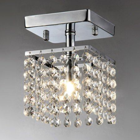 - Jhea 1-light Crystal 5-inch Chrome Chandelier