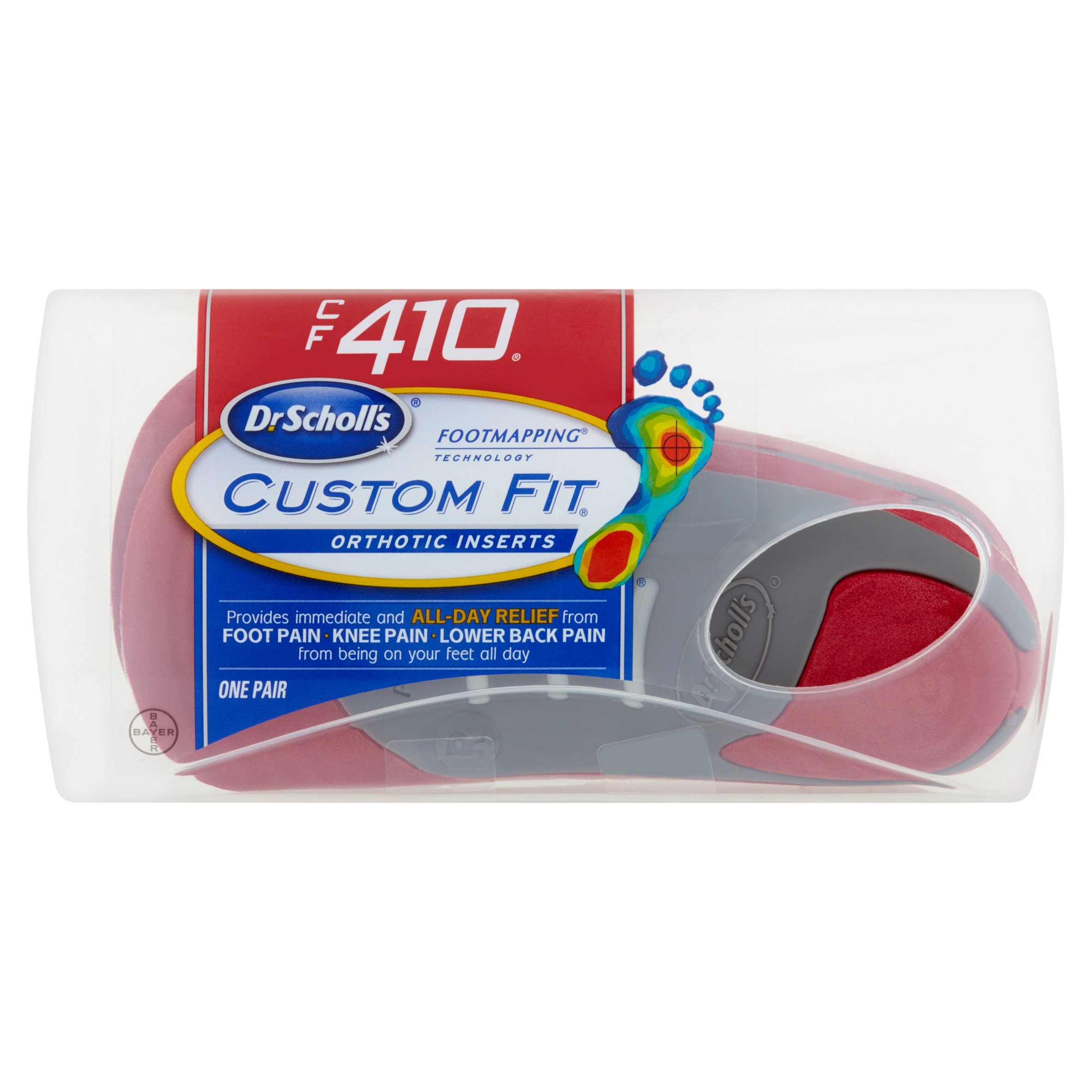 Dr. Scholl's Custom Fit Orthotics, CF410 by Bayer HealthCare LLC