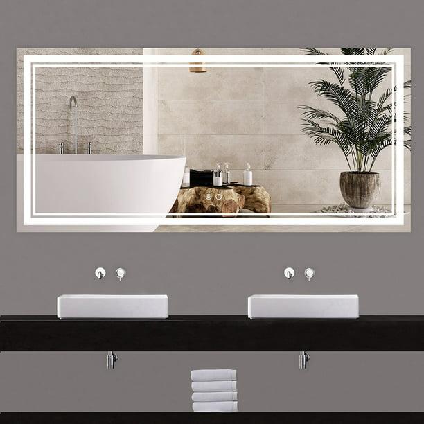 Keonjinn 60 X 28 Inch Bathroom Led, 60 Bathroom Mirror