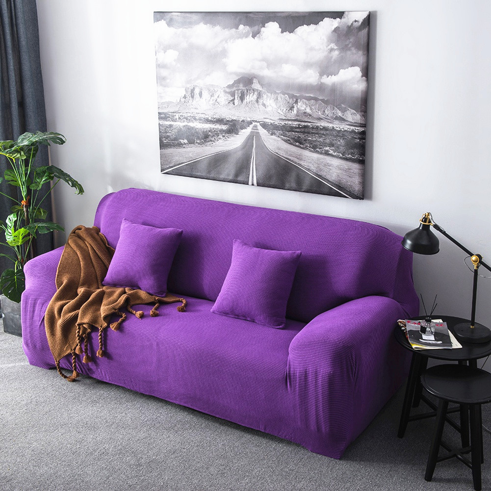 Sonew Stretch Polyester Elastic Sofa Slipcovers,Sonew Slip Resistant Stylish Furniture Solid Color Chair Loveseat Couch Slipcovers Protector for Living Room
