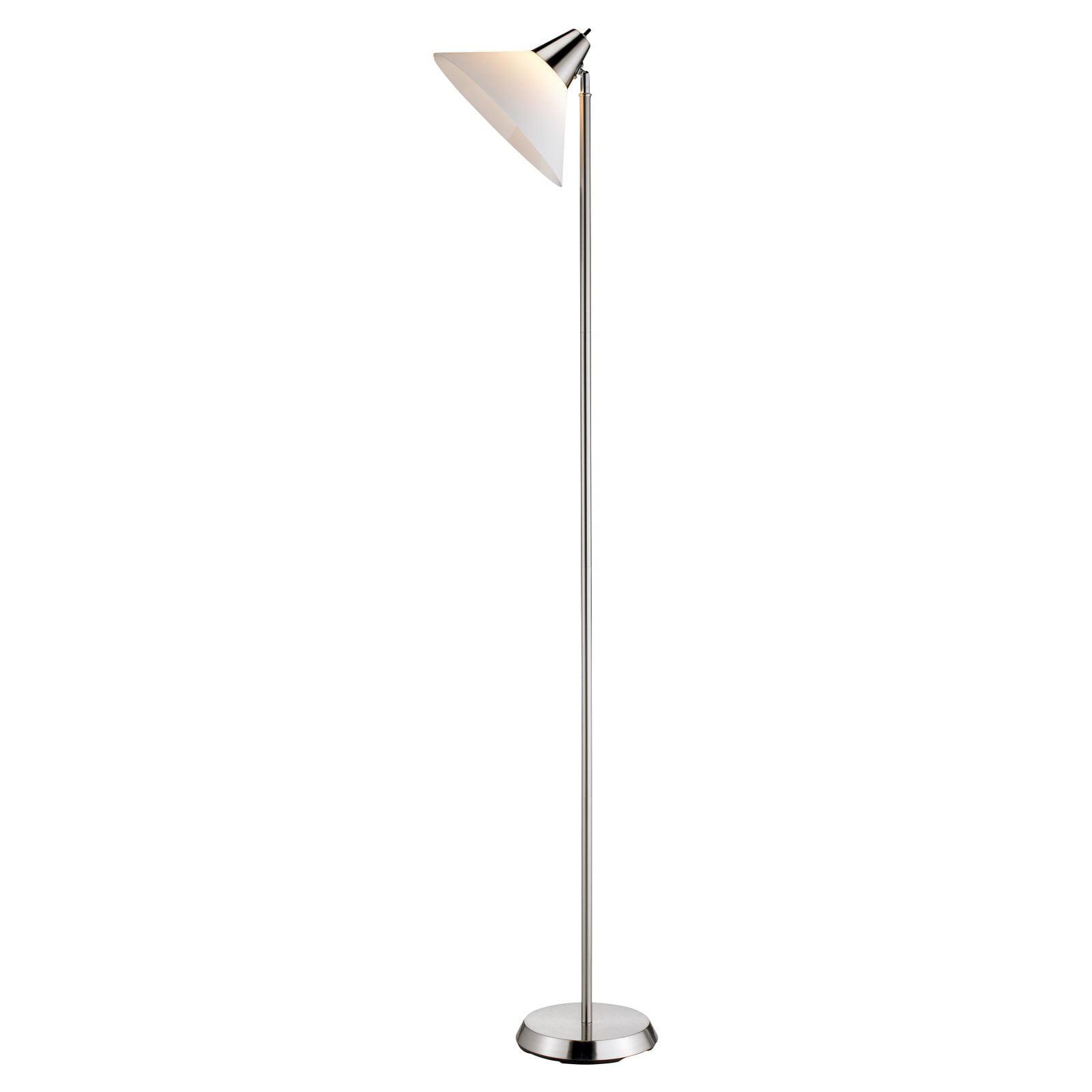 Adesso Swivel Floor Lamp, Satin Steel Finish by Generic