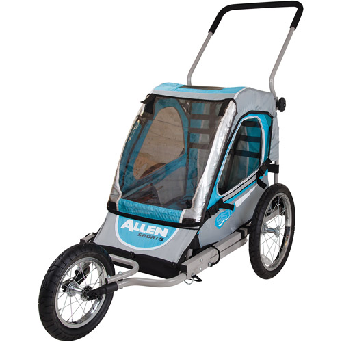 Allen Sports SST1 Steel 1-Child Jogger & Bicycle Trailer, Blue