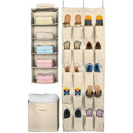 velcros amp easy storage fabric widen bc pockets handbag sweater brown magicfly organizer for hanging non collapsible side closet mount shelf op box clothes cubes foldable container woven bastuo bin with systems
