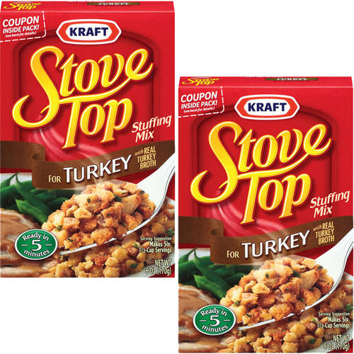 Kraft For Turkey Stove Top Stuffing Mix, 6 oz (Pack of 2)
