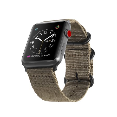 detailed look cb50a 26c8b For Apple Watch Band 42mm Fintie Woven Nylon Bands Adjustable Sport Strap  with Metal Buckle iWatch Series 3/2/1 Tan