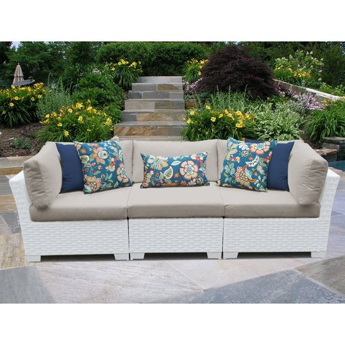 TK Classics Monaco Patio Sectional with Cushions
