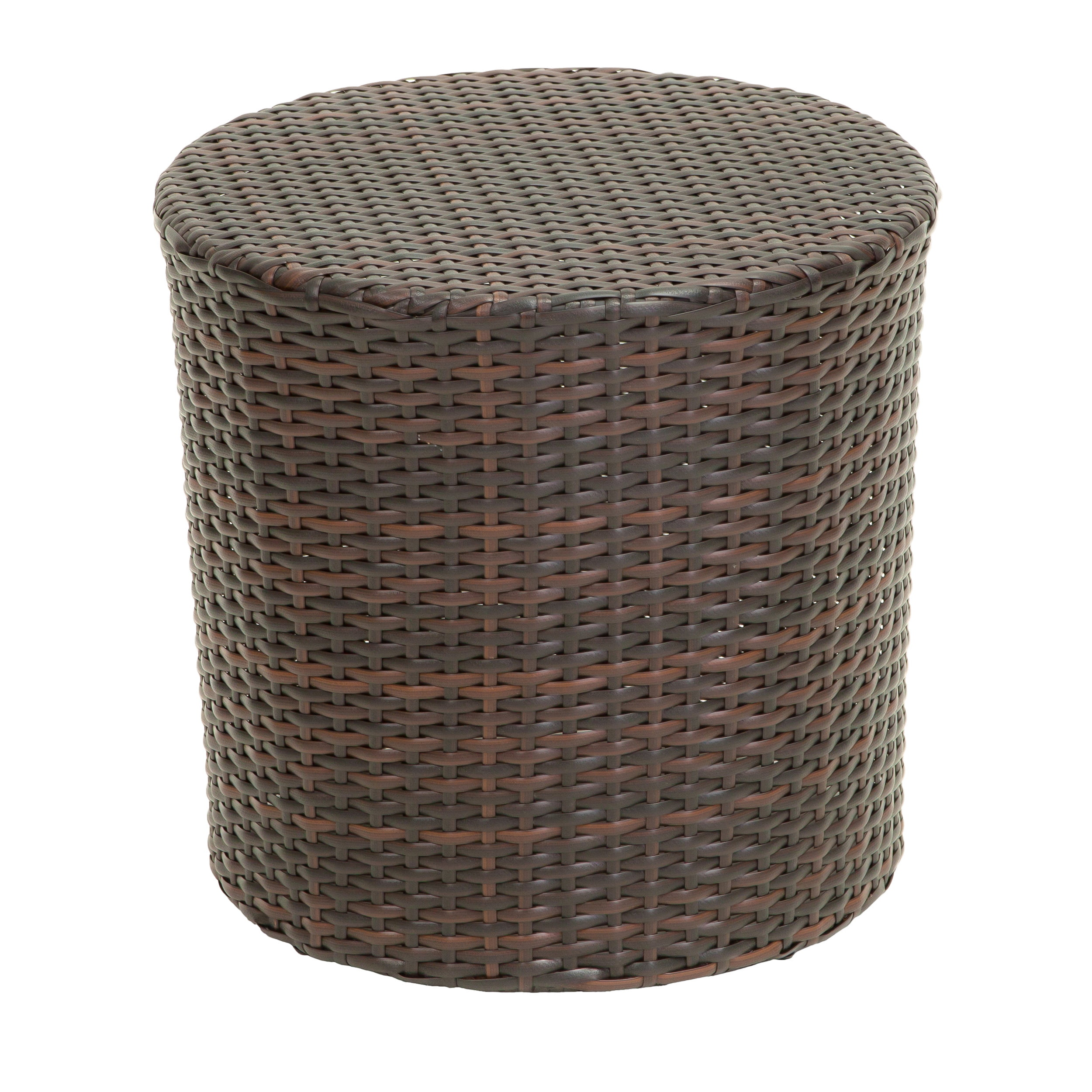 Noble House Brown Wicker Barrel Side Table by Noble House