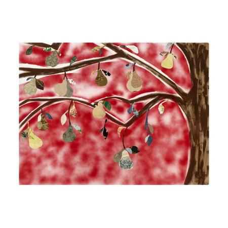 Red Pear Tree Print Wall Art By Sisa Jasper