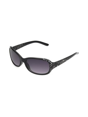 576bdc15970c4 Product Image Foster Grant Women S Black Rectangle Sunglasses U07