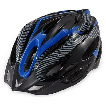 Urparcel Cycling Bicycle Adult Bike Safe Helmet Carbon Hat With Visor 19 Holes Blue