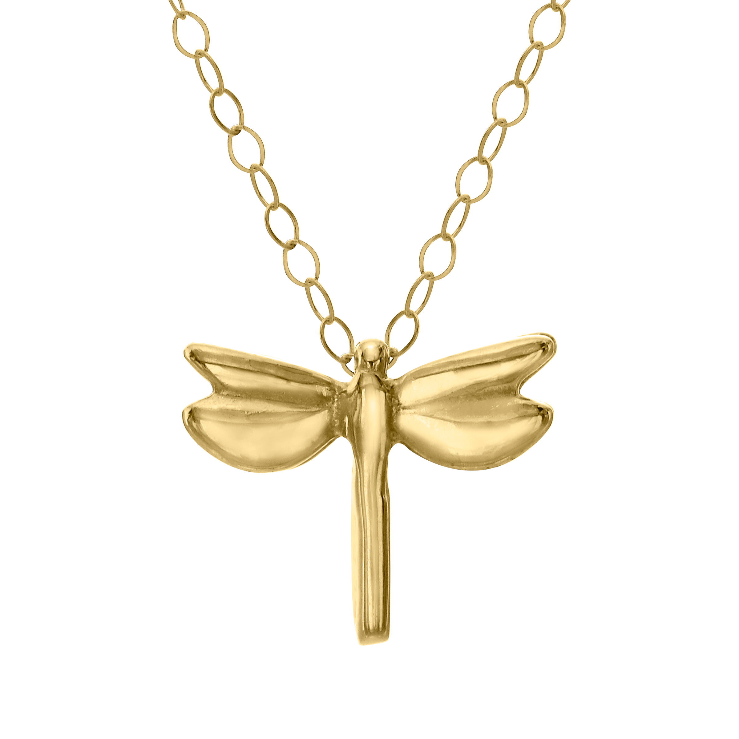 Just Gold Petite Expressions Dragonfly Pendant Necklace in 10kt Gold