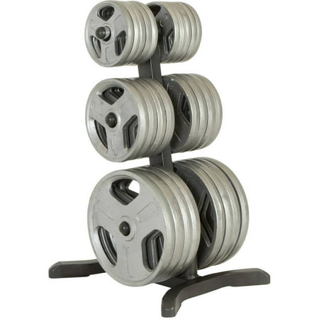 FITNESS REALITY X-Class Olympic Weight Tree/Plate Rack, Bar Holders, Chrome Storage Posts, 1000 lb Capacity ()