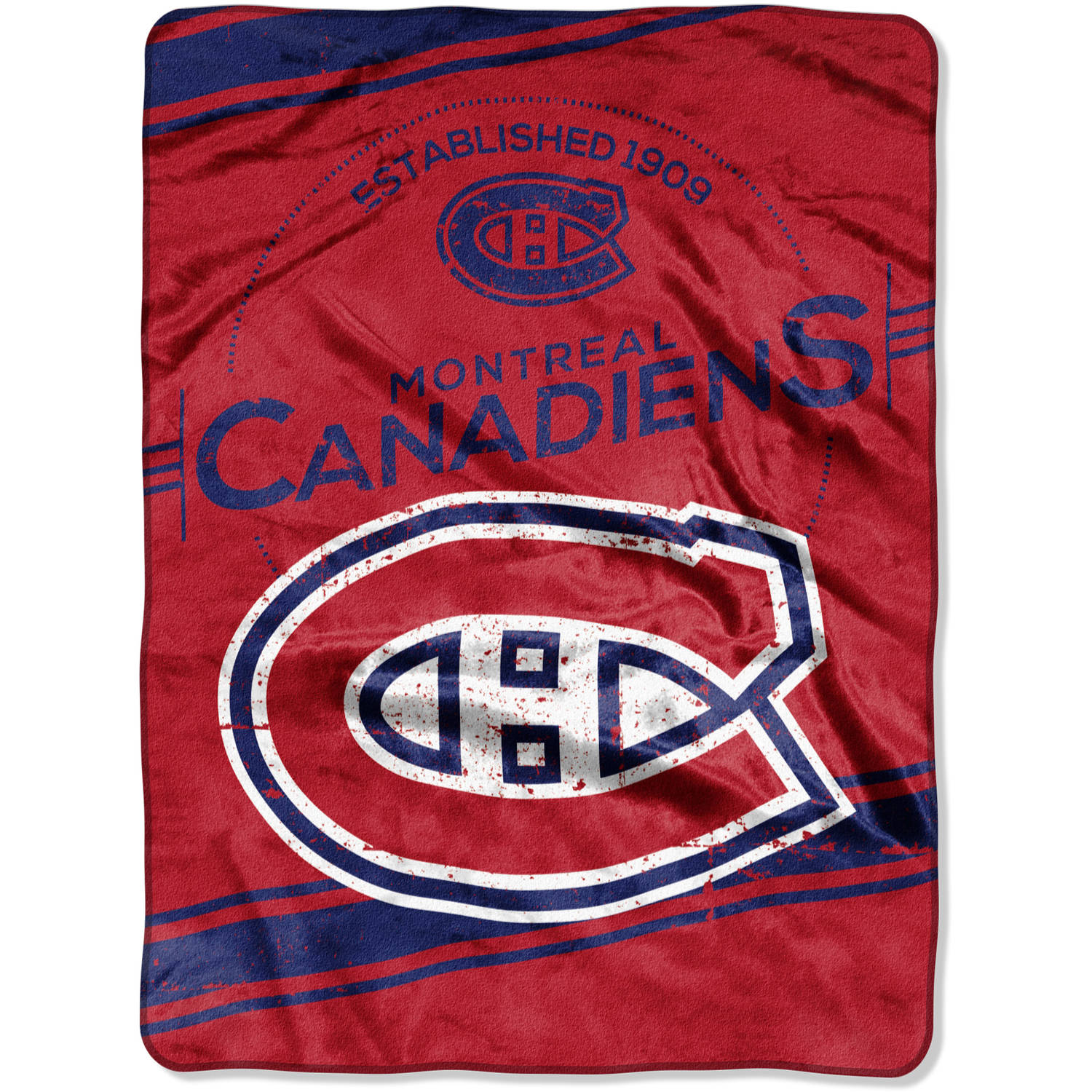 """NHL Montreal Canadiens """"Stamp"""" 60"""" x 80"""" Raschel Throw"""