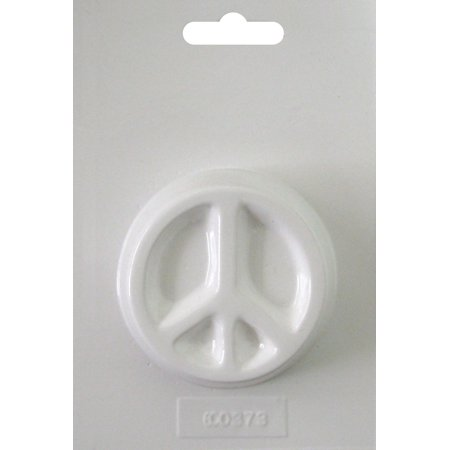 Soapsations Soap Mold, Round Peace Sign, 2.5