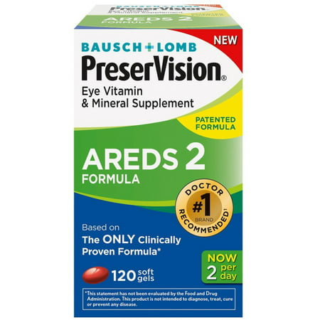 PreserVision AREDS 2 Vitamin & Mineral Supplement, Soft Gels 120 ea (Pack of 3)