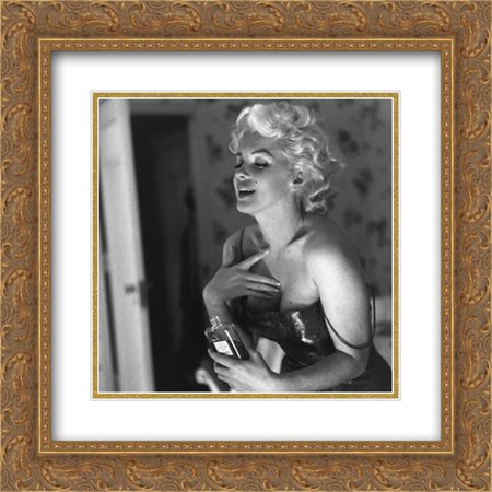 Marilyn Monroe Chanel No. 5 20x20 Double Matted Gold Ornate Framed Movie Star Poster Art Print - Chanel Party Decor