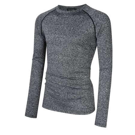 Skin Long Sleeve Compression Shirt - Men's Cool Dry Skin Fit Long Sleeve Compression Shirt Top