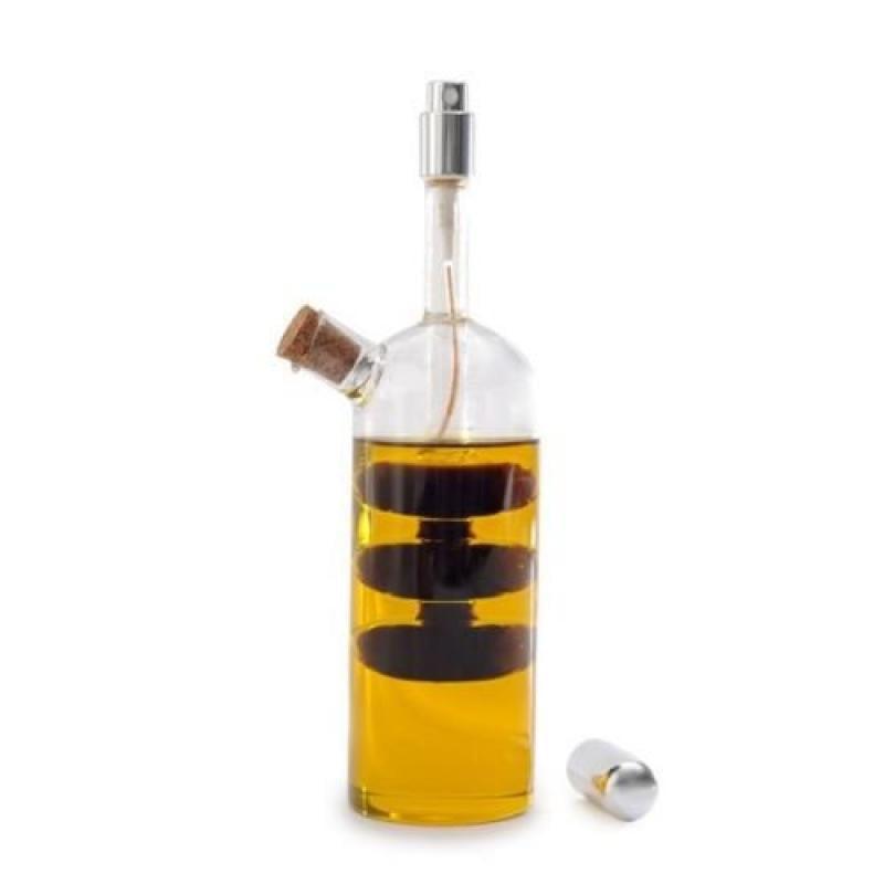 Norpro Oil Vinegar Cruet with Spritzer Hand-blown Glass B...