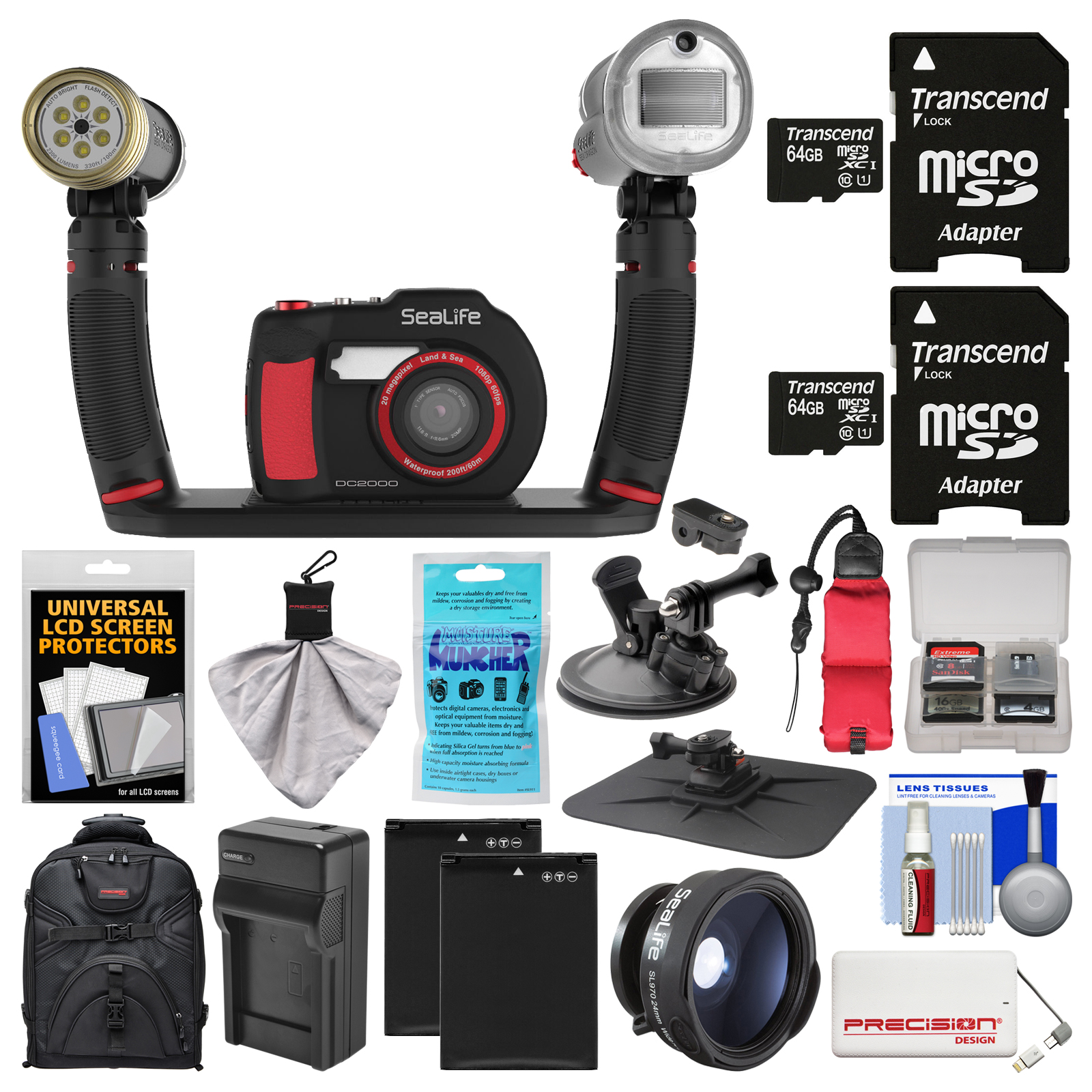 SeaLife DC2000 HD Underwater Digital Camera with Sea Dragon Pro Duo Light & Flash Set + Wide Angle Lens + 2... by SeaLife