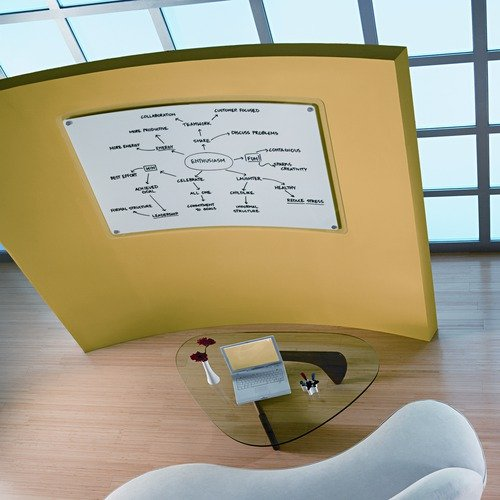 Quartet iQTotal Erase Marker Board, 49 x 29, White, Translucent Frame