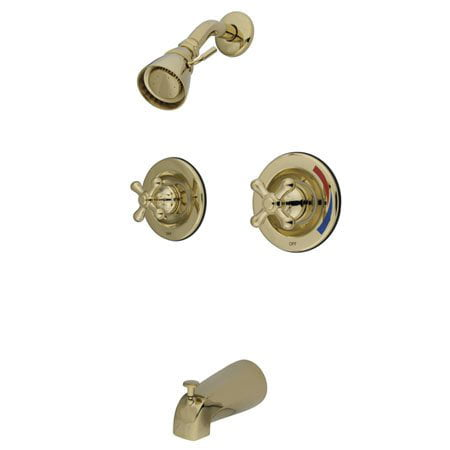 Kingston Brass GKB662AX Water Saving Vintage Tub & Shower Faucet with Pressure Balanced Valve, Polished