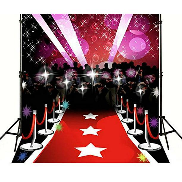 Hellodecor Polyster 5x7ft Paparazzi Red Carpet Hollywood Celebrity Backgrounds Party Wedding Backdrops Walmart Com Walmart Com