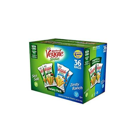 Sensible Portions Veggie Straws Variety Pack (1 oz. each, 36 ct.) pk of 3