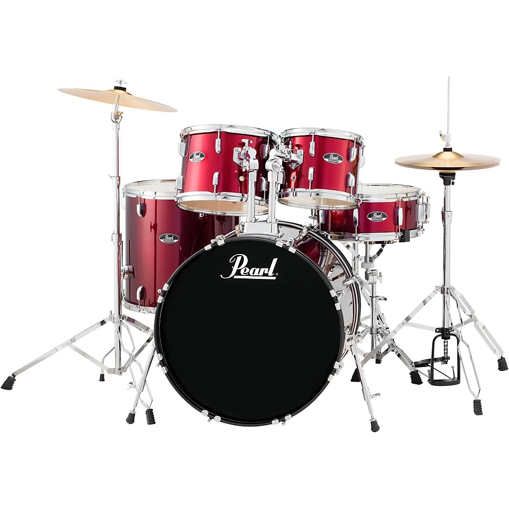 Pearl Roadshow 5-Piece New Fusion Drum Set Wine Red by Pearl