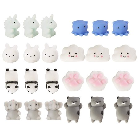 Juvale 24-Pack Mochi Squishies - Squishy Kawaii Squeeze Toys - Cute Party Favors, Easter Egg Fillers, Stress Relief Gifts, 8 (10 Best Easter Eggs In Games)