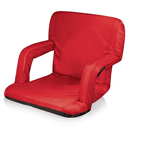 Picnic Time Portable Ventura Reclining Stadium Seat, Red