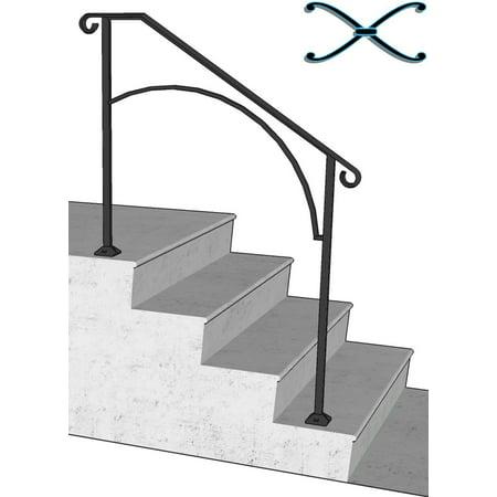 Iron X Handrail Arch #3 (Concrete Steps)