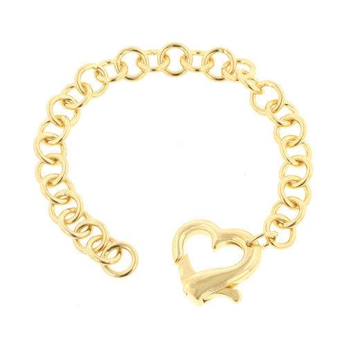 Kate Bissett Gold-Tone Heart Bracelet