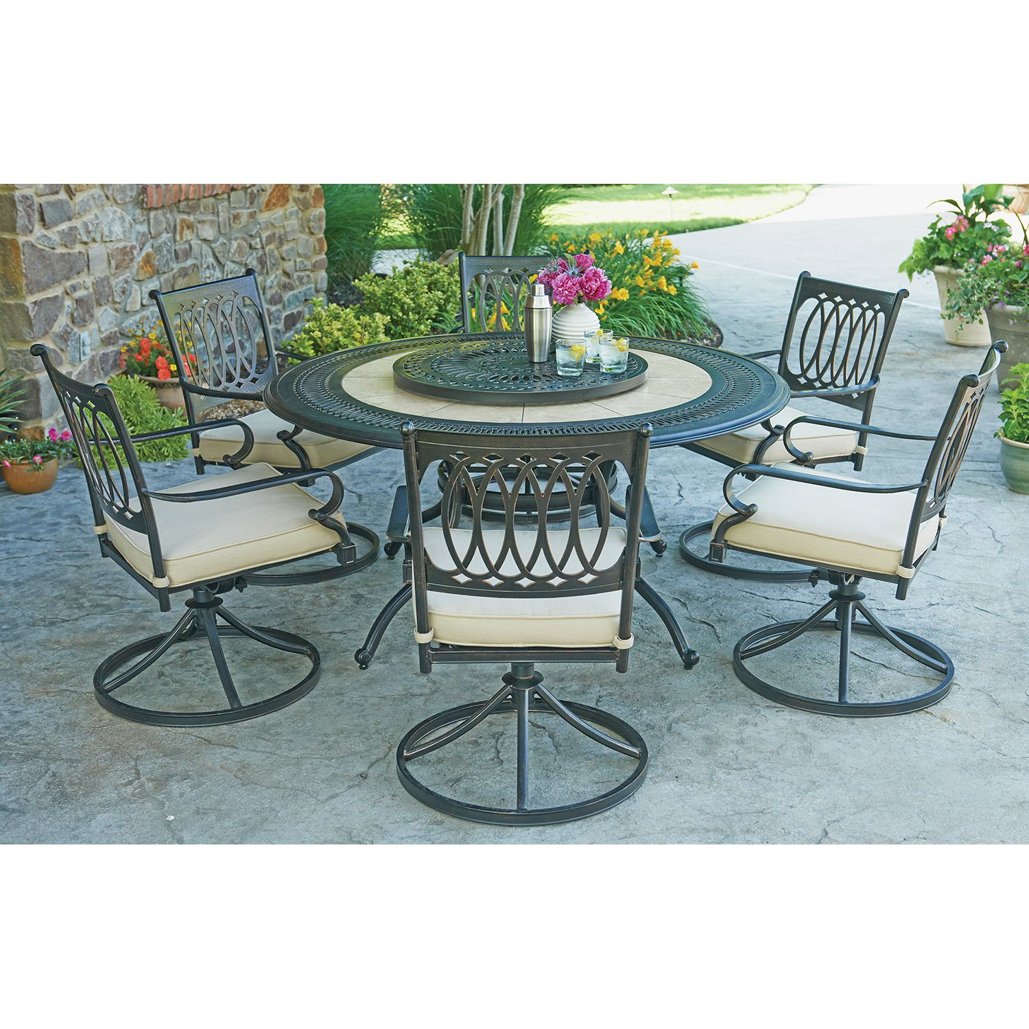 Member s Mark Madison 8 Piece Dining Set with Premium Sunbrella