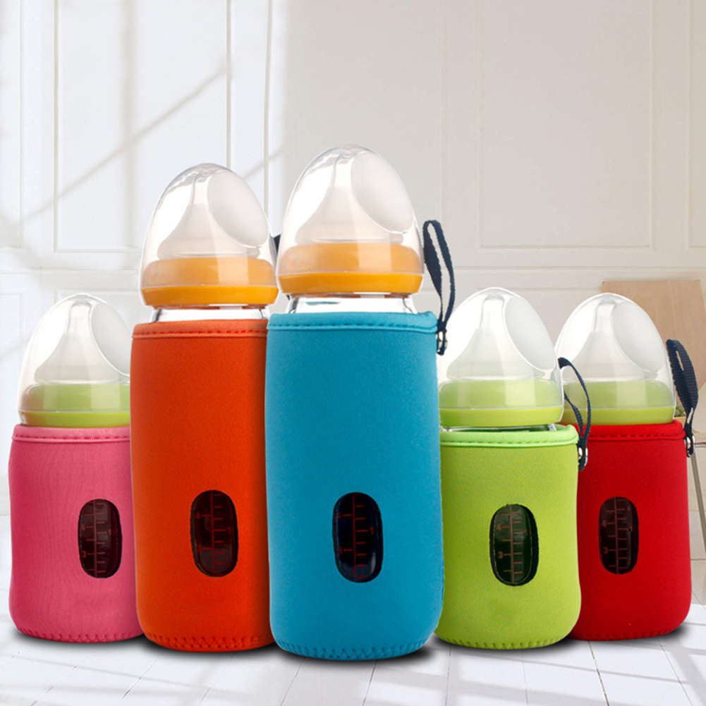 Directer Baby Infant Feeding Bottle Warmer Protective Sleeve Cup Cushion Bag 10cm/14cm
