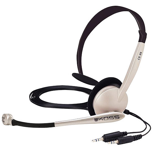 Koss Monaural Headset With Noise Canceling Microphone
