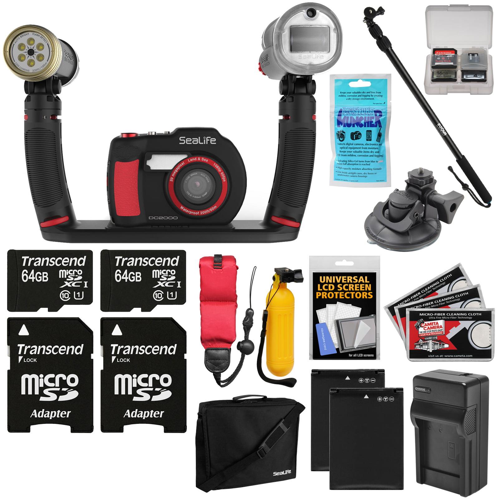 SeaLife DC2000 HD Underwater Digital Camera with Sea Dragon Pro Duo Light & Flash Set + 2 64GB Cards +... by SeaLife