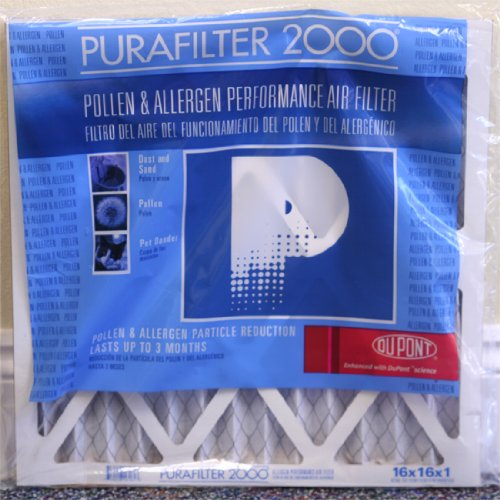 Purafilter 2000 Micro Allergen Reduction Air Filters 4 Pack 16X30x1