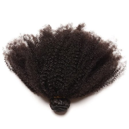 CARA Brazilian Virgin Hair 1 PC Afro Kinky Curly Human Hair Bundle 4B 4C Hair Weave, 8