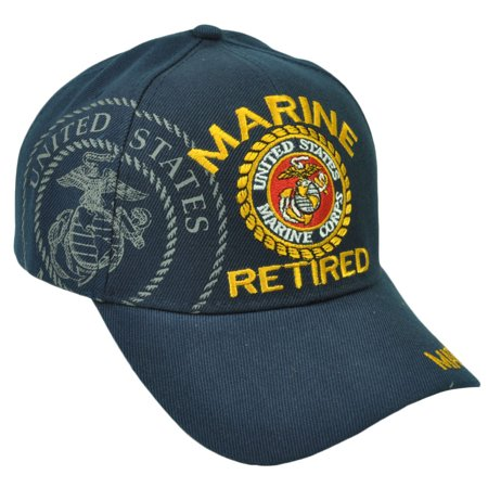 United State U.S Marine Retired Military Troops Adjustable Hat Cap Corps Navy