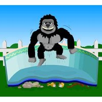 16x24 Rectangle Gorilla Floor Pad For Above Ground Swimming Pools Blue Wave Chemicals NL144